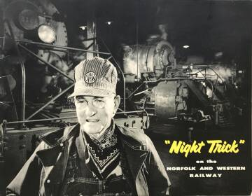 """Winston Link,""""Night Trick"""" on the Norfolk and Western Railway"""