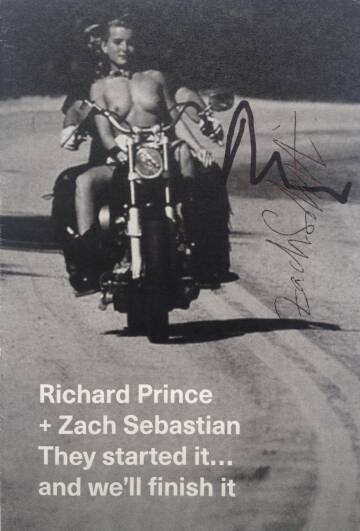 Richard Prince,They started it… and we'll finish it (Signed by both)