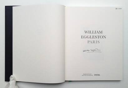 William Eggleston,Paris (Signed and limited of 100 copies )