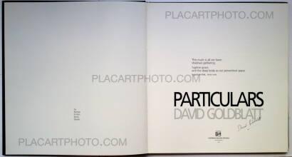 David Goldblatt,Particulars (Signed)