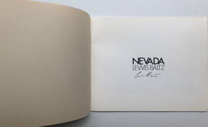 Lewis Baltz,NEVADA (SIGNED)